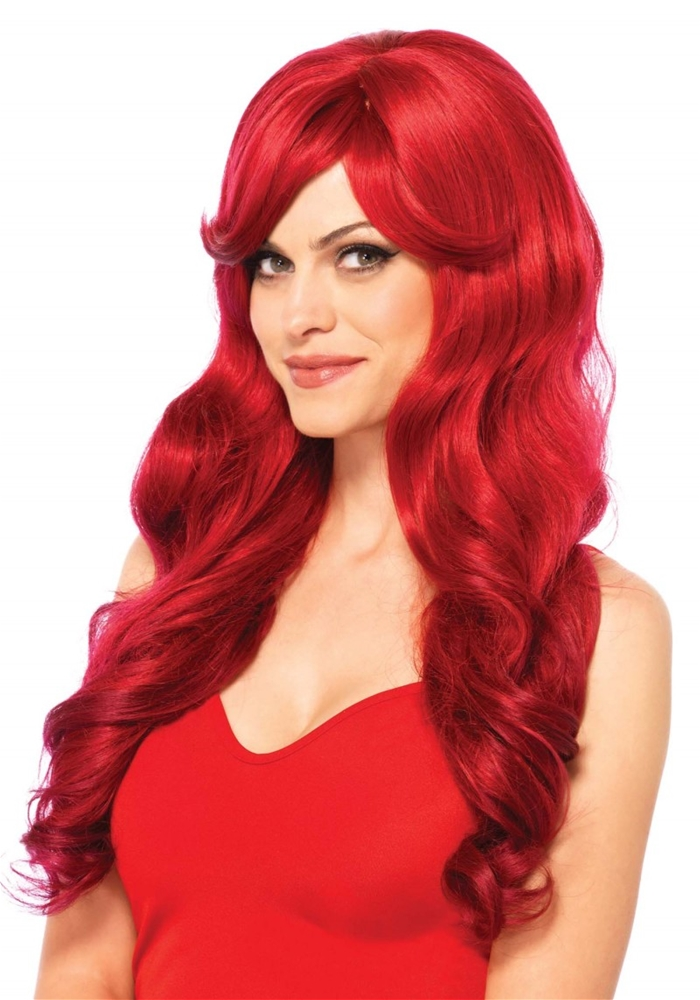 Long Wavy Wig (More Colors) (Color Wig)