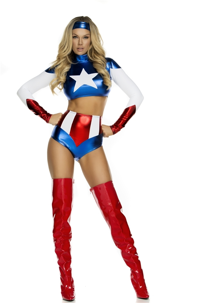 Pretty Patriot Sexy Hero Adult Womens Costume