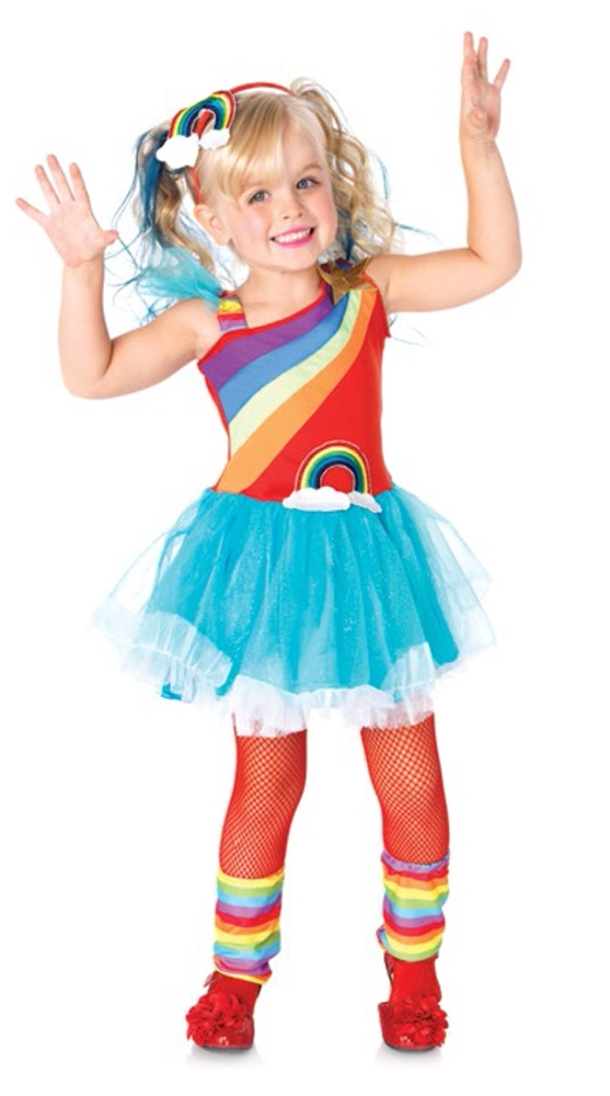 Aqua Rainbow Doll Toddler Costume