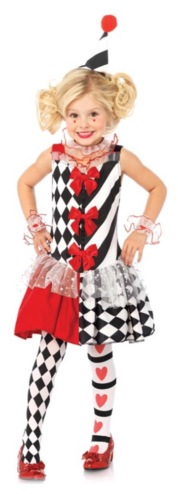 Harlequin Clown Child Costume