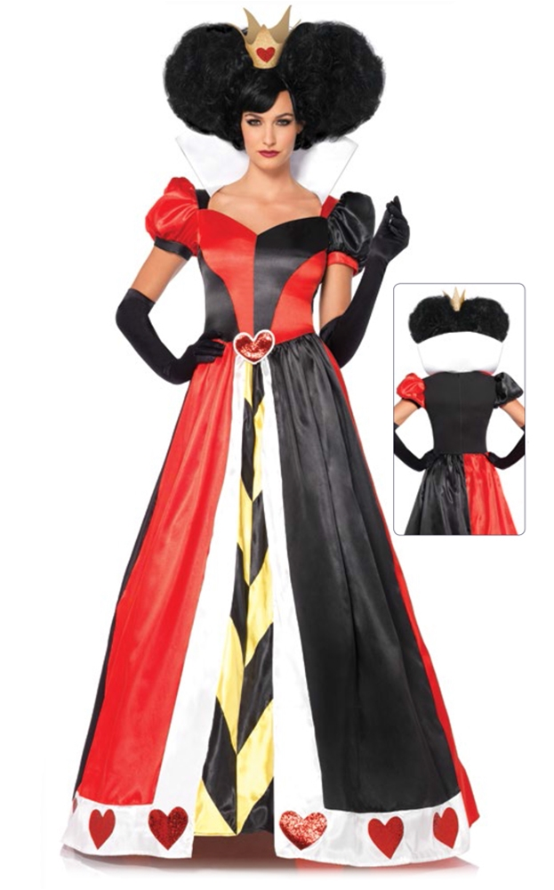Image of Queen of Hearts Deluxe Adult Womens Costume
