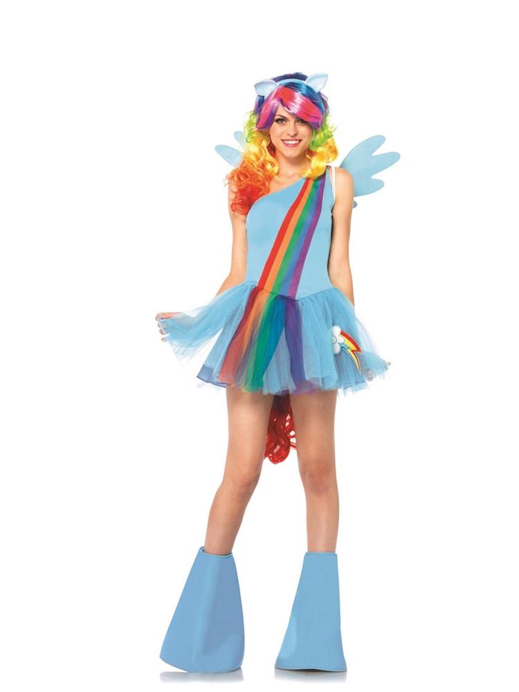 Rainbow Dash Pony Adult Womens Costume