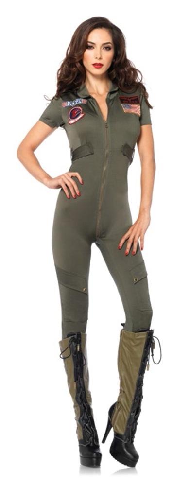 Top Gun Flight Suit Adult Womens Costume