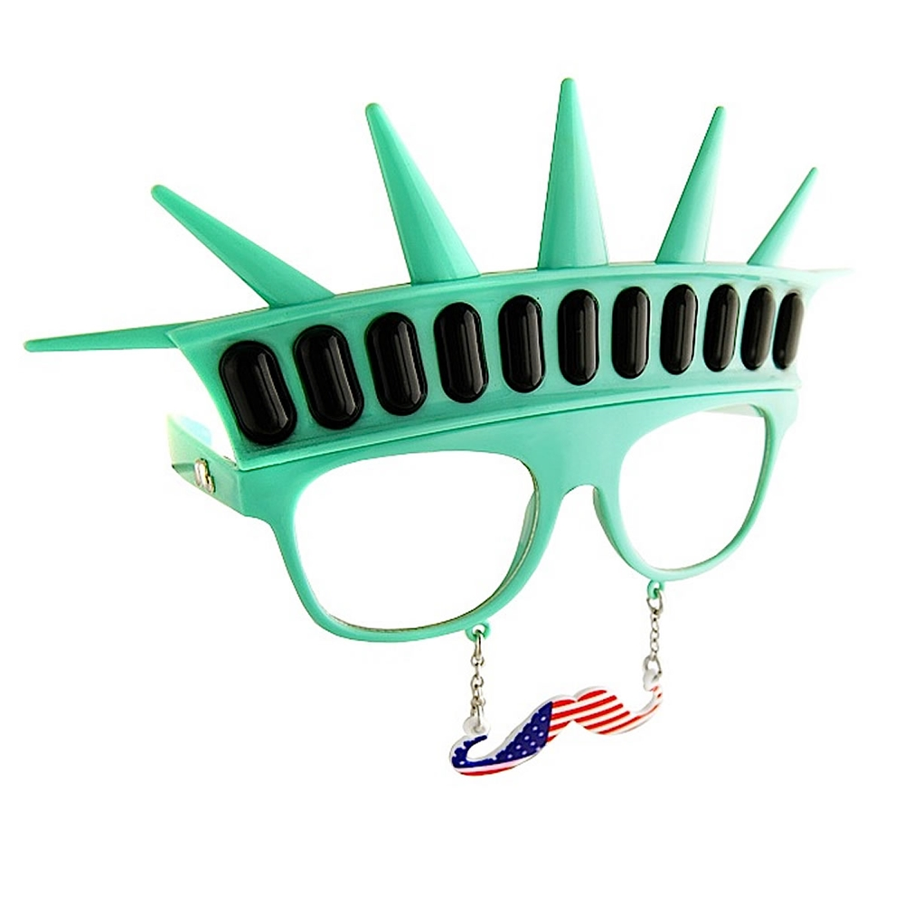 Statue of Liberty Moustache Glasses