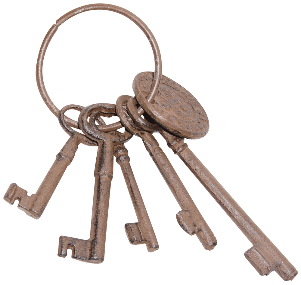 Cast Iron Skeleton Keys in Ring