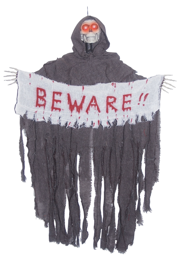 Hanging Reaper with Beware Banner Prop by Sunstar Industries Inc.