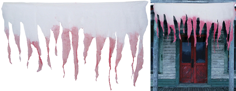 White Bloody Tattered Cloth