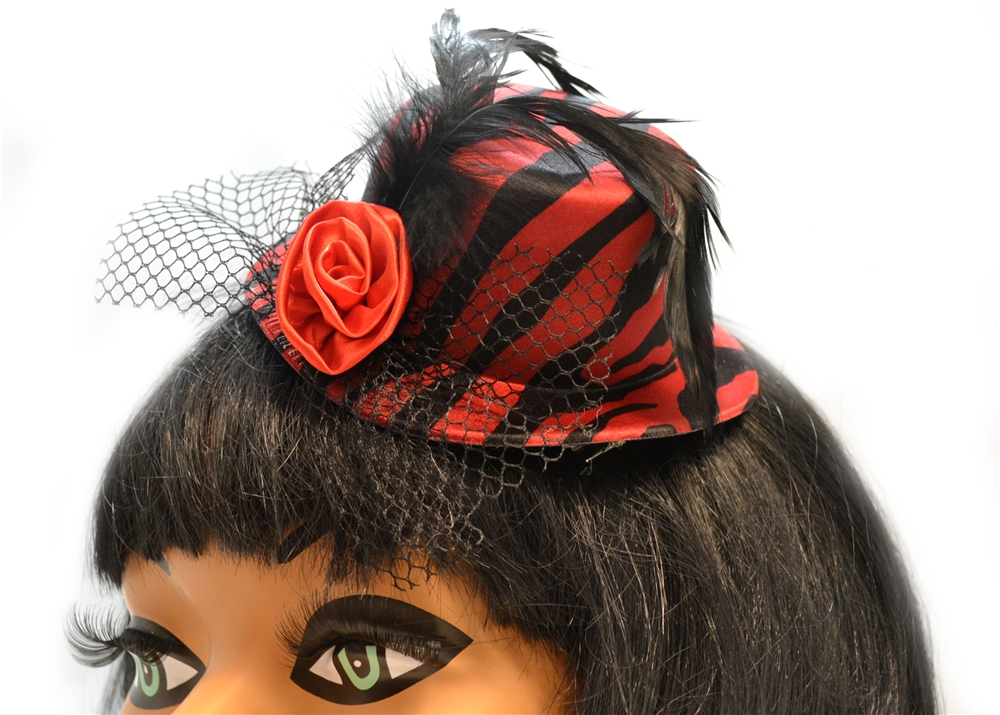 Zebra Print Clip-On Mini Hat (More Colors)