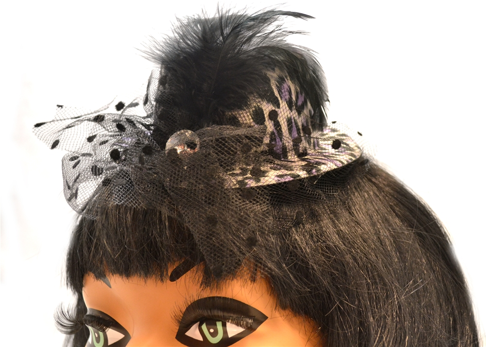 Leopard Print Clip-On Mini Hat (More Colors)