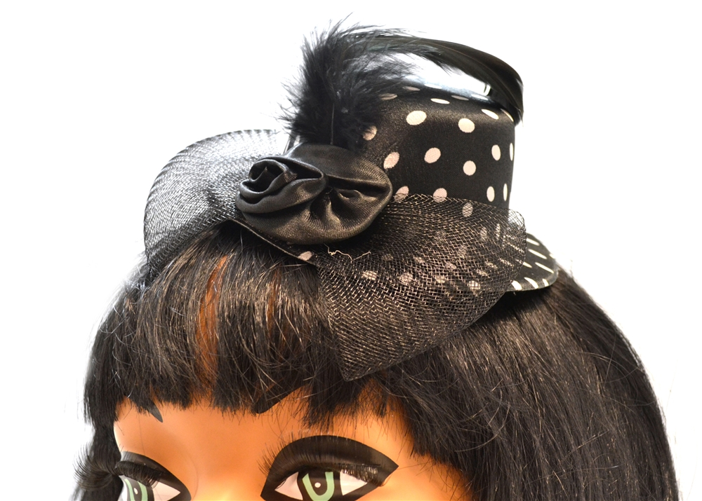 Image of Polka Dot Clip-On Mini Hat (More Colors)
