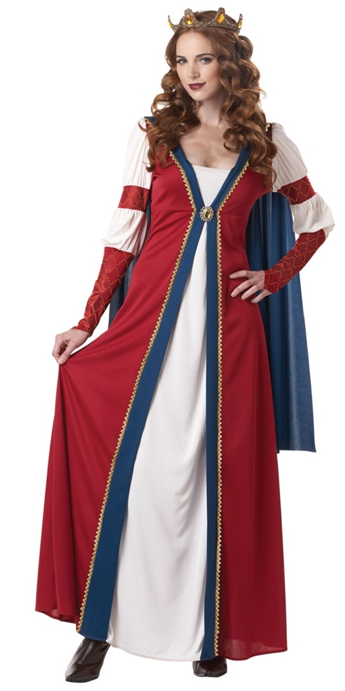 [Red & Blue Renaissance Queen Adult Womens Costume] (Renaissance Costumes Womens)