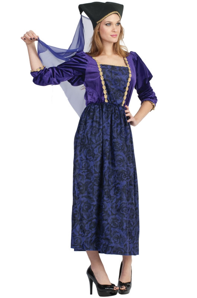 [Purple Renaissance Princess Adult Womens Costume] (Renaissance Costumes Womens)