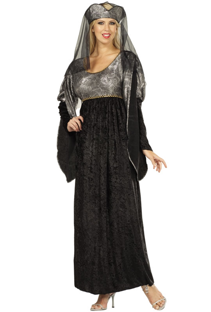 Black & Silver Renaissance Queen Adult Womens Costume by RG Costumes