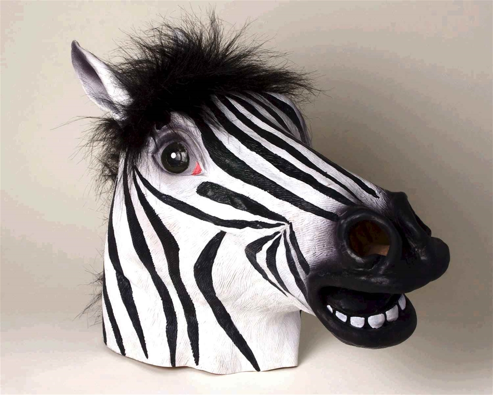 Zebra Deluxe Latex Mask with Hair by Forum Novelties