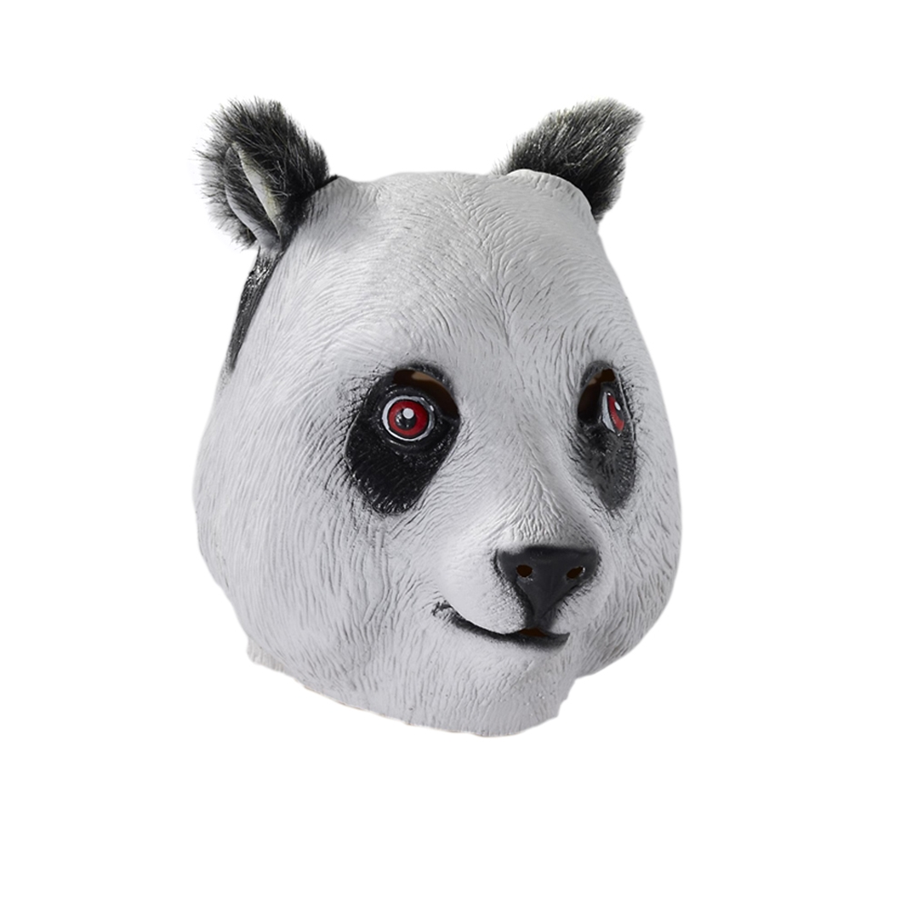 Panda Deluxe Latex Mask with Hair