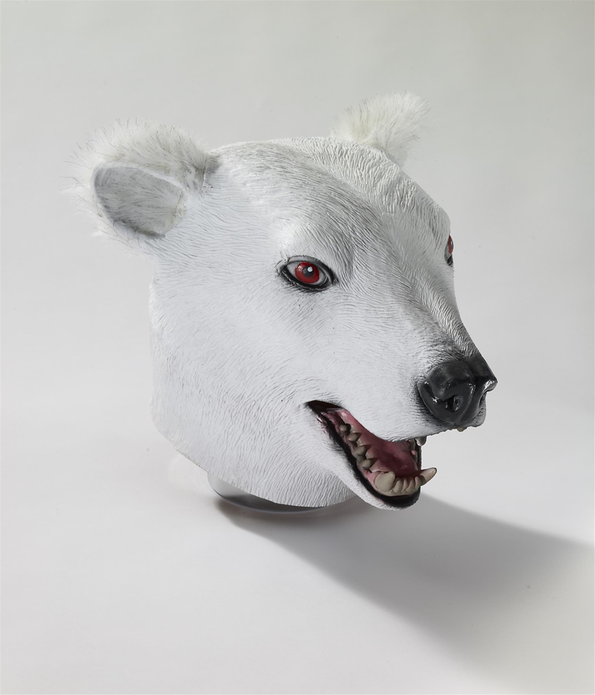 Polar Bear Deluxe Latex Mask with Hair