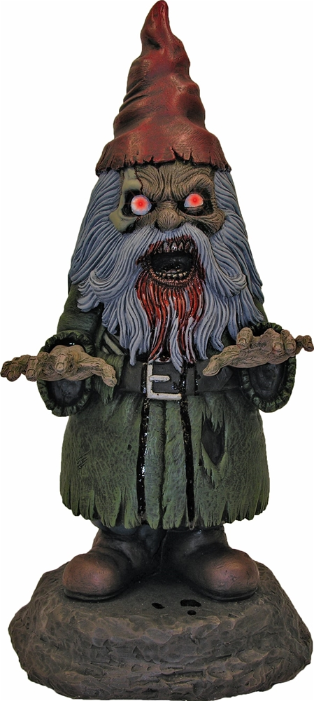 Zombie Gnome with Light-Up Eyes Prop