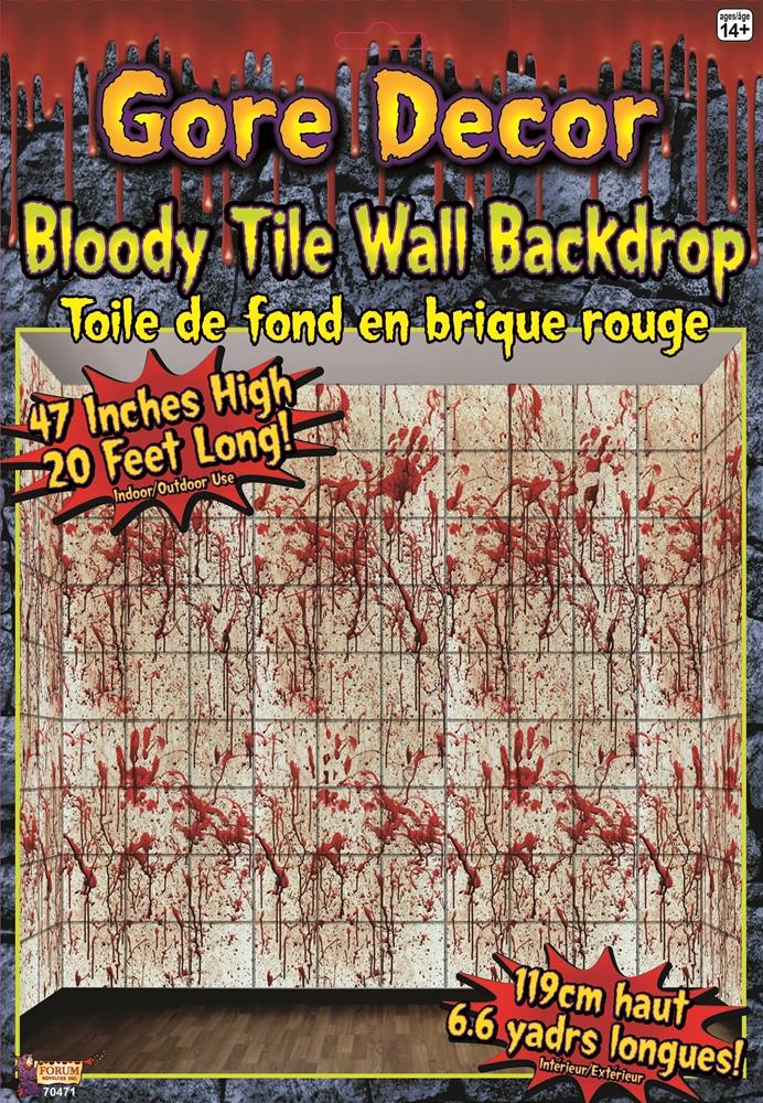 Bloody Tile Gore Decor
