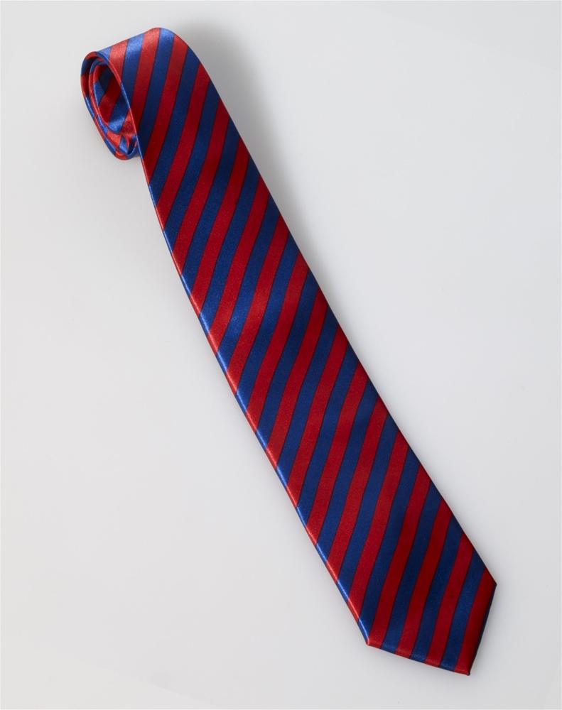 Roaring 20s Red & Blue Striped Necktie