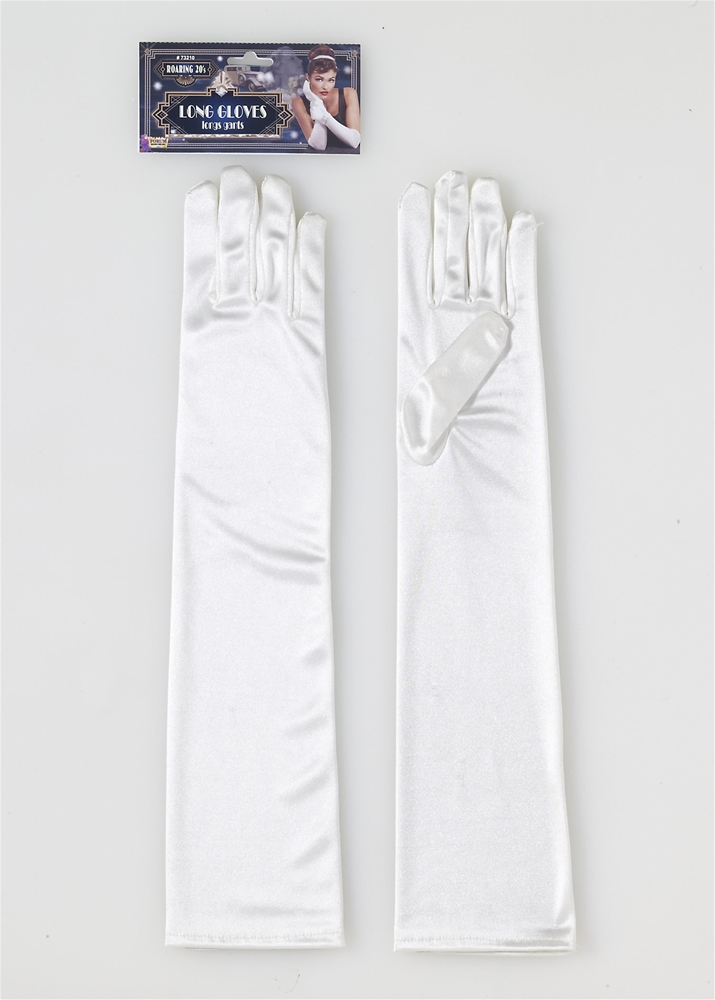 Roaring 20s Long Beige Gloves