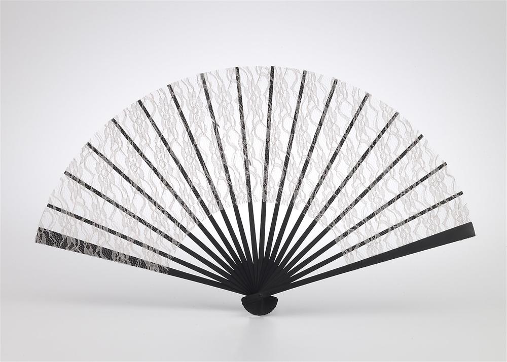 Roaring 20s Beige Lace Fan