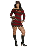 Miss Krueger Adult Womens Plus Size Costume