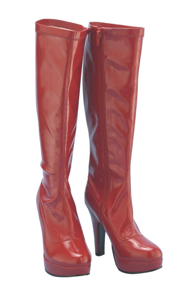 Red Platform Adult Womens Boots (Red Women Boots)