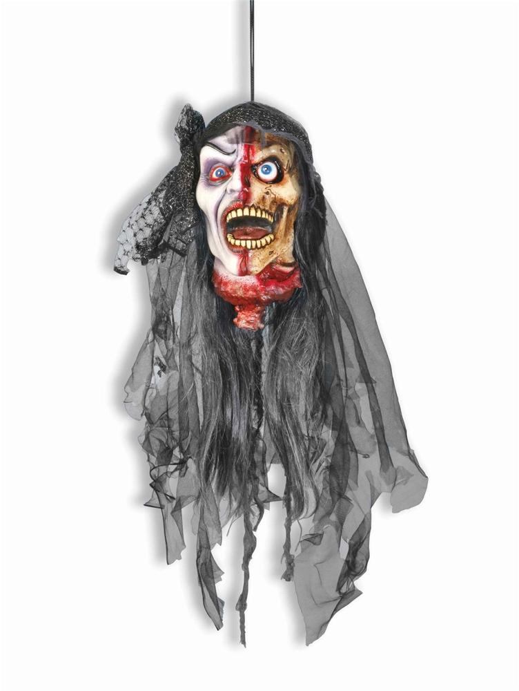 Severed Hanging Zombie Vampiress Head