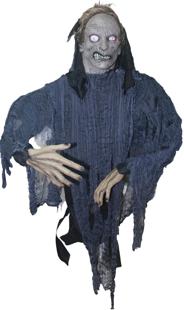 Grey Zombie Hanging Prop