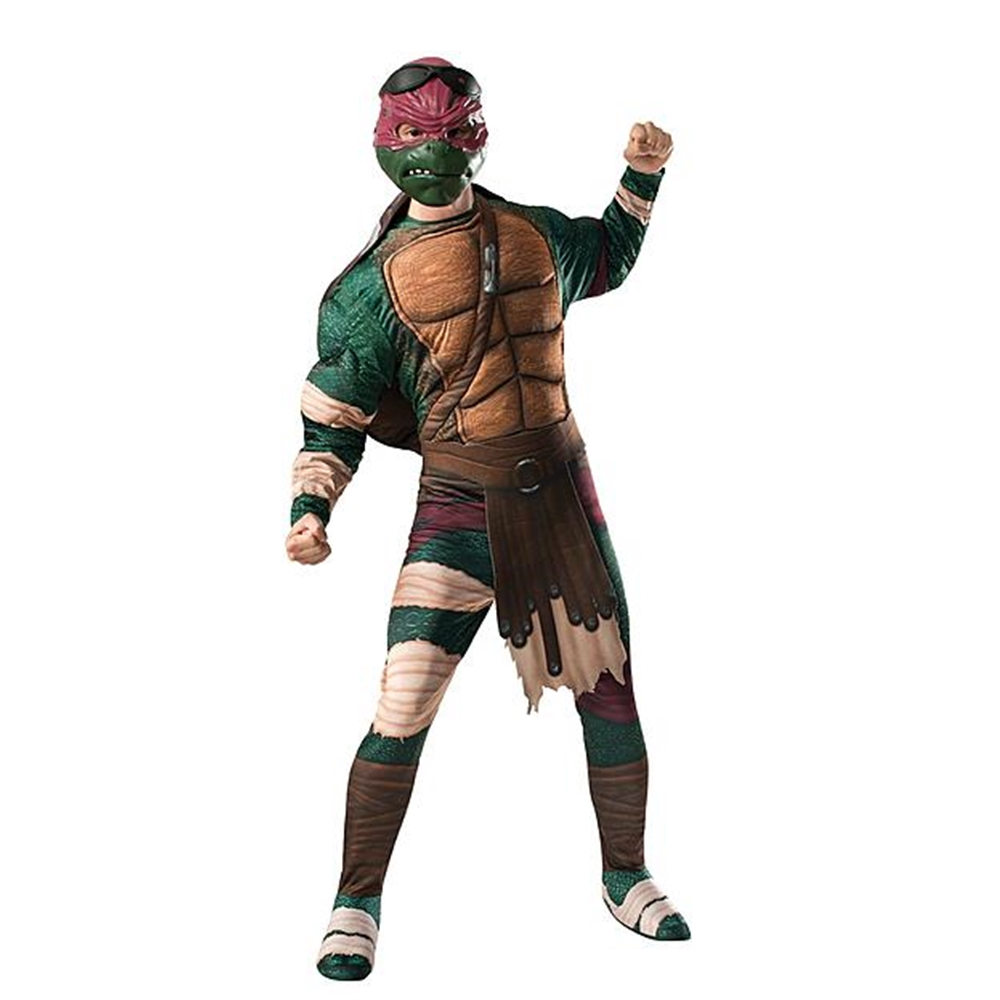 [Ninja Turtles Movie Raphael Adult Mens Costume] (Adult Ninja Turtle)