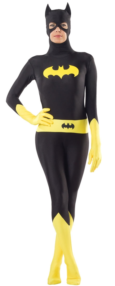 Batgirl Zentai Bodysuit Adult Womens Costume