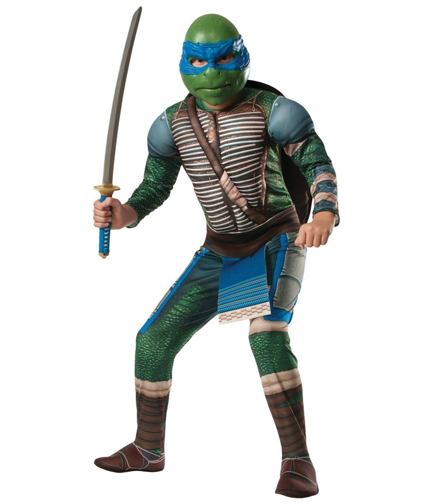 Ninja Turtles Movie Deluxe Muscle Leonardo Child Costume