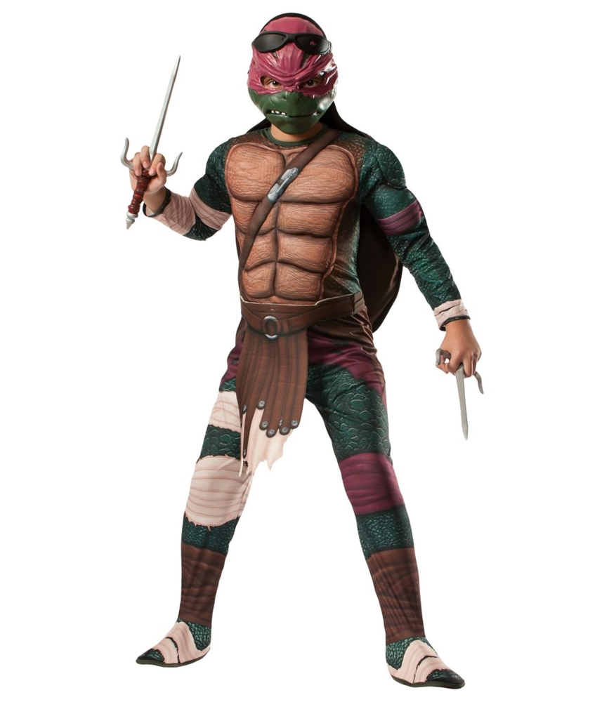 Ninja Turtles Movie Deluxe Muscle Raphael Child Costume