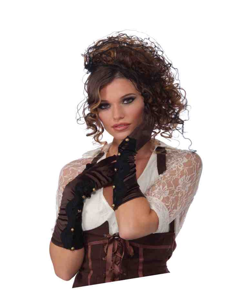 Steampunk Long Brown Gloves by Forum Novelties