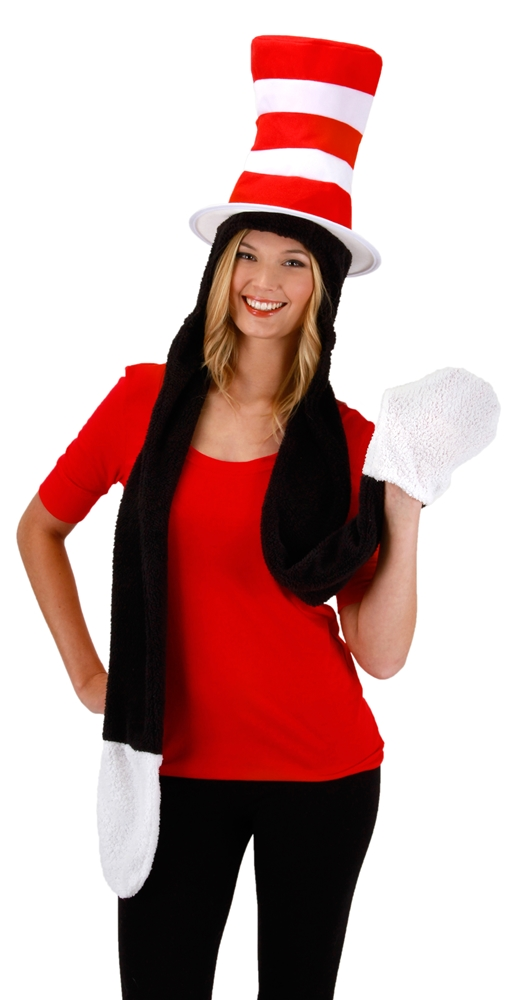 Dr. Seuss Cat in the Hat Hoodie with Scarf