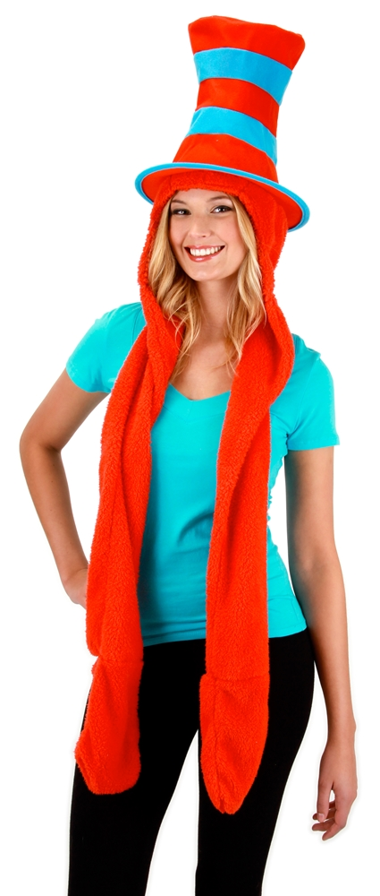 Image of Dr. Seuss Thing 1&2 Hoodie with Scarf