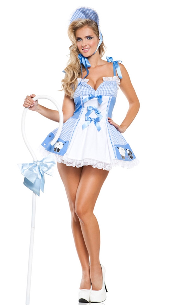 Blue Little Bo Peep Cutie Adult Womens Costume