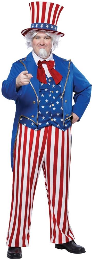 Uncle Sam Adult Mens Plus Size Costume
