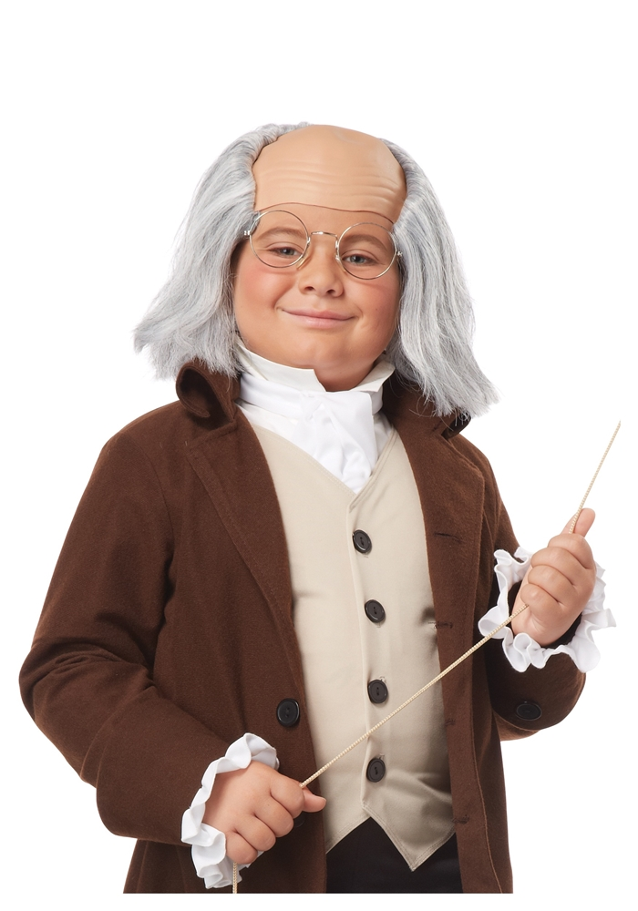 Colonial Ben Franklin Child Wig by California Costumes