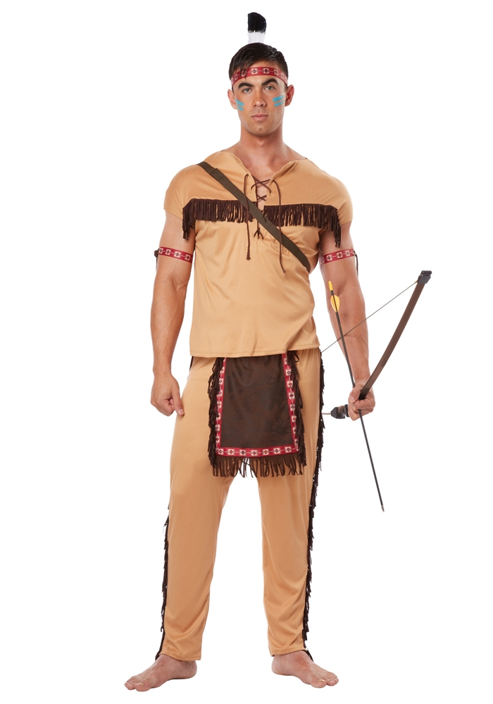 Image of Native American Warrior Adult Mens Costume