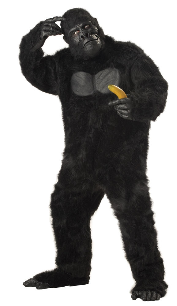 Black Gorilla Adult Mens Plus Size Costume