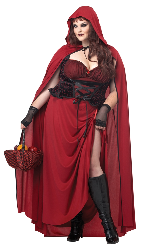 Dark Red Riding Hood Adult Womens Plus Size Costume