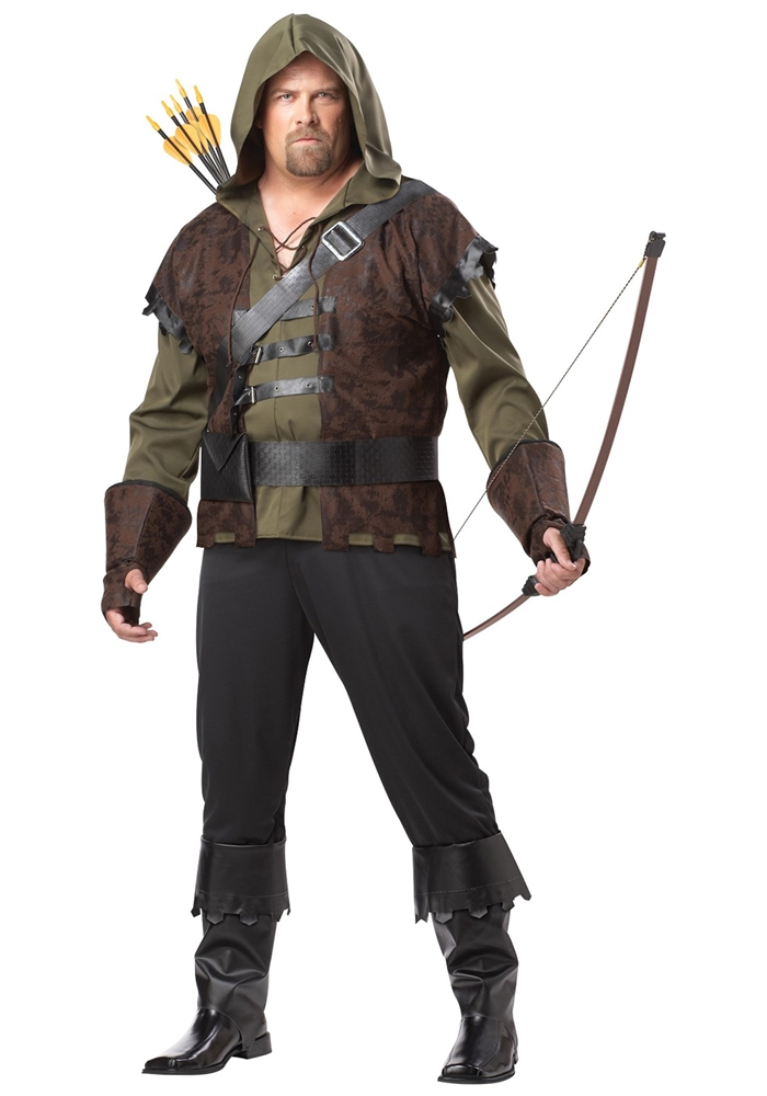 Robin Hood Adult Mens Plus Size Costume by California Costumes