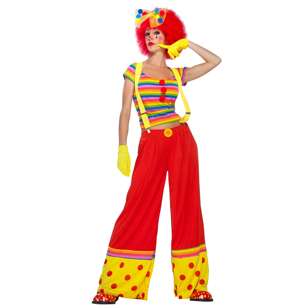 Moppie the Rainbow Clown Adult Womens Costume (Rainbow Clown Costume)