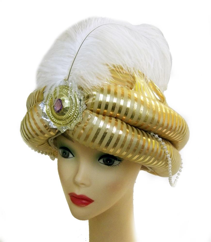 Turban with White Feather