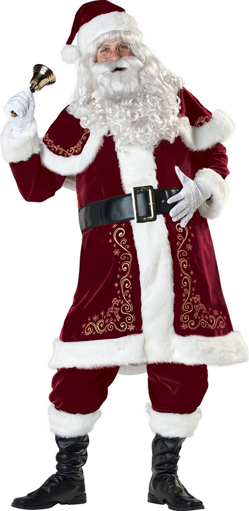 Jolly Ole Saint Nick Deluxe Adult Mens Costume