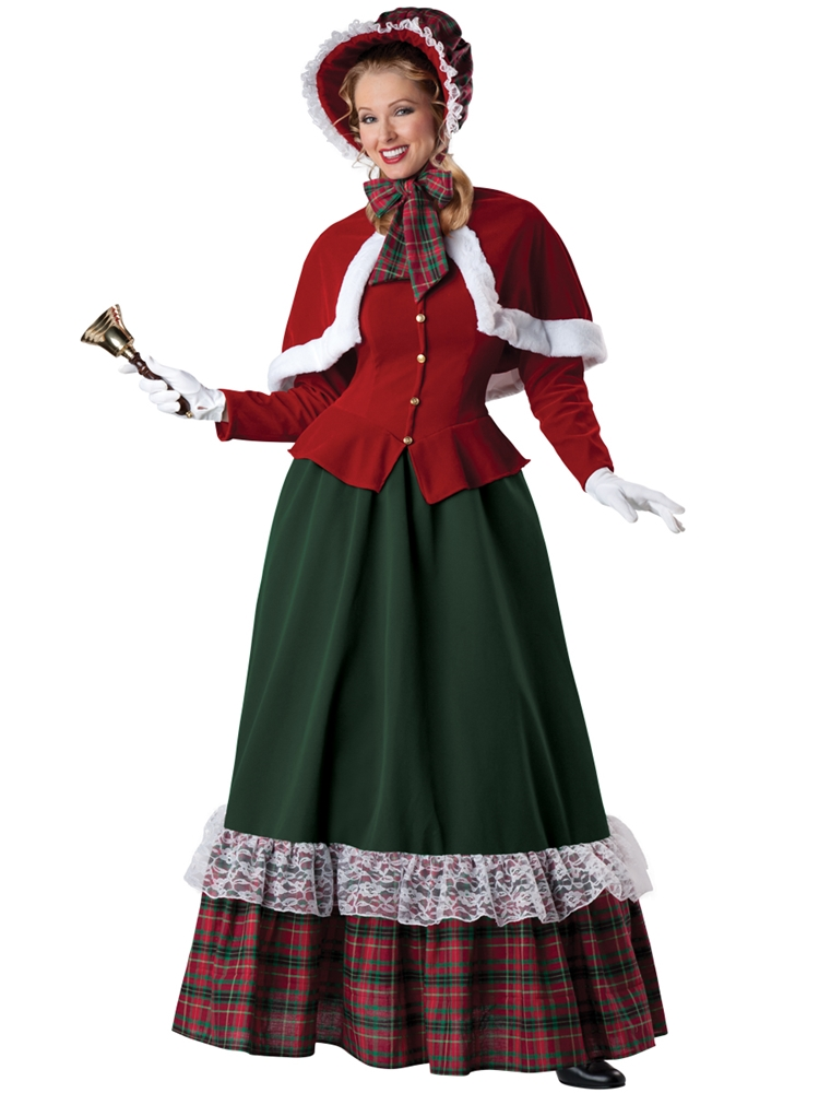 Yuletide Caroling Lady Deluxe Adult Womens Costume