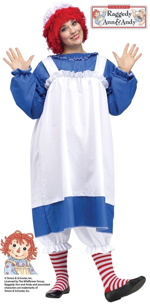 Raggedy Ann Adult Womens Plus Size Costume by Fun World