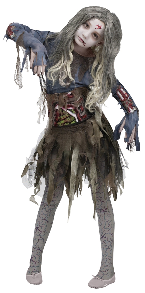 Zombie Child Costume with 3D Guts