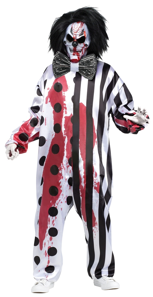 Bleeding Killer Clown Adult Unisex Costume